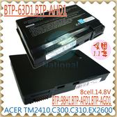 ACER 電池-宏碁 電池-TRAVELMATE 2410,4400,C300,C301,C302,BTP-AID1,BTP-98H1 系列 ACER 筆電電池
