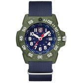 雷明時NAVY SEAL 海豹2代腕錶 – 藍x白時標/45mm A3503.ND
