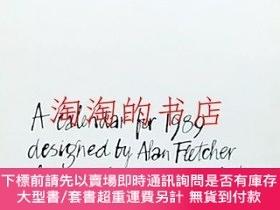 二手書博民逛書店A罕見calendar for 1989 designed by Alan Fletcher of pentagr