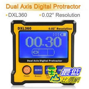 [美國直購] Floureon Digital LCD Protractor Dual Axis Level Box Inclinometer High Accuracy and Resolution (DXL360) 量角器