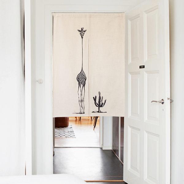 可愛時尚棉麻門簾462 廚房半簾 咖啡簾 窗幔簾 穿杆簾 風水簾 (85cm寬*120cm高)