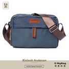 Kinloch Anderson 金安德森 斜背包 Natural Trend  原革皮標多功能側背包 藍色 KA194106 得意時袋