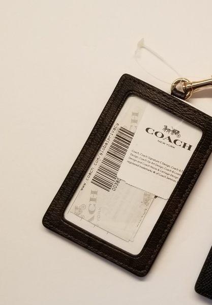 美國COACH 精品  防刮 證件識別證  證件夾  黑色 暢銷熱賣經典款 $1280限量特價