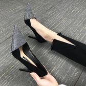 高跟鞋 小清新高跟鞋細跟公主尖頭單鞋 巴黎春天