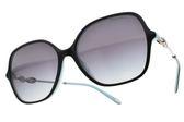 Tiffany&CO.太陽眼鏡 TF4145BF 8055-3C (黑槍-灰鏡片) 貴婦大框款 墨鏡 # 金橘眼鏡