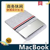 MacBook Air/Pro/Retina 紅白藍條紋保護套 舒適手感 簡易防水 短毛內膽包 筆電包 手拿包 支援全機型