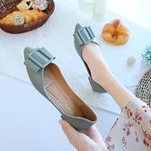 低跟鞋 尖頭單鞋女2020年春款新款平底百搭軟底軟皮春季豆豆瓢鞋女