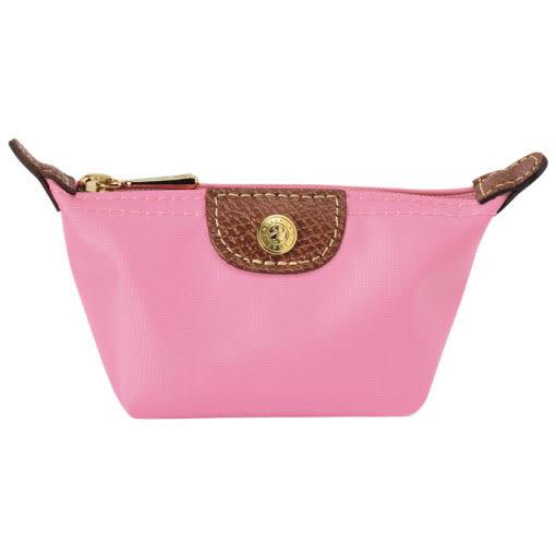 Longchamp 拉鍊式水餃零錢包~ (玫瑰粉) ~現貨特價