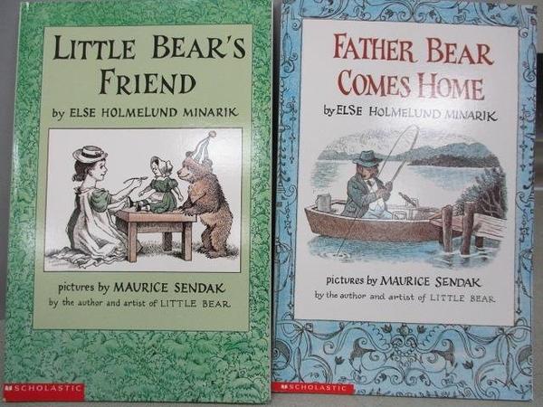 【書寶二手書T1/語言學習_MKE】Little Bear s Friend_Father Bear Comes Home_2本合售