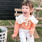 兒童大荷葉領毛衣春秋裝薄2021新品女寶寶套頭線衣洋氣小童針織衫可愛韓版裝
