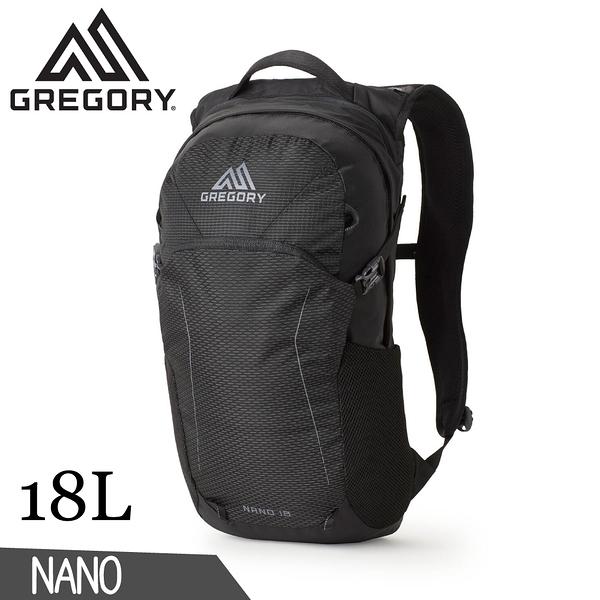 【GREGORY 美國 18L NANO多功能登山背包《曜石黑》】111498/雙肩背包/後背包/電腦包/旅行/自行車