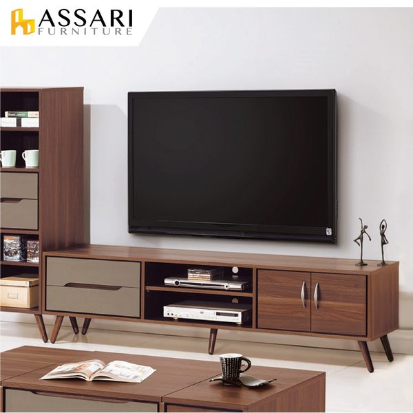 ASSARI-米蘭6尺電視櫃(寬182x深40x高49cm)