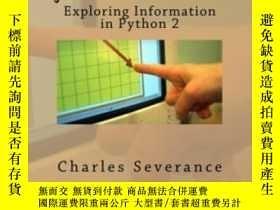 二手書博民逛書店Python罕見For InformaticsY364682 Dr. Charles R Severance