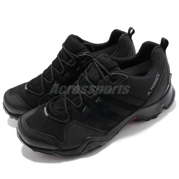 adidas 戶外鞋 Terrex AX2R GTX 黑 全黑 Gore-Tex 登山 防水 運動鞋 男鞋【PUMP306】 CM7715