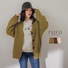 PUFII-外套 排釦厚磅針織外套-1205 現+預 冬【CP17683】