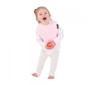 紐西蘭 Mum 2 Mum 機能型神奇口水巾圍兜-寶寶款-粉紅 吃飯衣 口水衣 防水衣