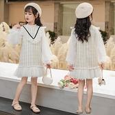 女童小香風公主洋裝春秋裝2020新款兒童洋氣大童小女孩長袖裙子 Cocoa