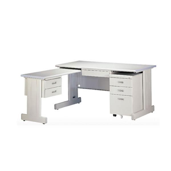 【YUDA】冷匣鋼板 全隧道式烤漆HU160 L桌 中間抽屜 活動櫃 3件組/桌整組/辦公桌
