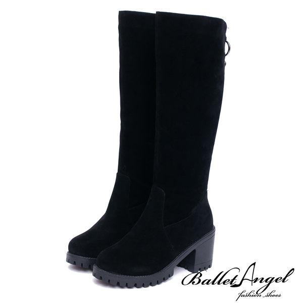 長靴 優雅迷人綴飾拉鍊高跟長靴(黑) *BalletAngel【18-1786bk】【現貨】