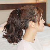 馬尾女綁帶式大波浪女士偏短款隱形自然假髪  ys377『毛菇小象』