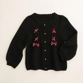 【金安德森】麻花蝴蝶結配格針織外套-黑色