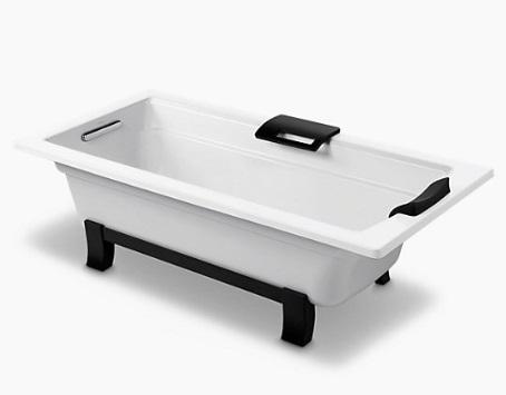 【麗室衛浴】美國 KOHLER Archer 獨立式鑄鐵浴缸 K-45594T-GR-0