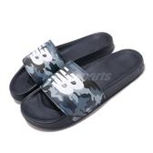 New Balance 拖鞋 NB 200 藍 白 男鞋 女鞋 迷彩 運動拖鞋 涼拖鞋【PUMP306】 SMF200CAD