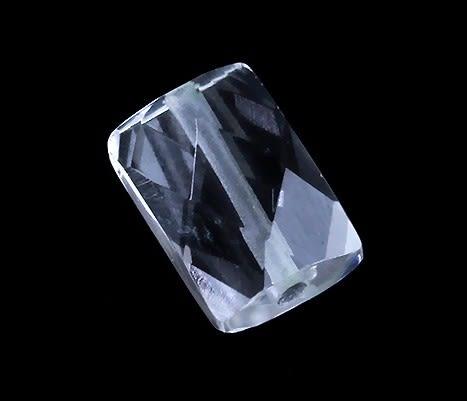 [協貿國際]天然白水晶角度長方條散珠DIY手工飾品配件(6入價)