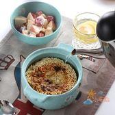 創意可愛卡通泡面碗帶蓋陶瓷大號方便面碗雙耳學生飯碗餐碗微波爐【下標選換運送可超取】