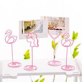 【BlueCat】粉色鐵絲獨角獸紅鶴動物名片夾