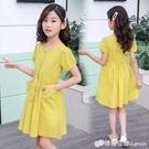 女童洋裝 女童夏裝洋裝新款洋氣小女孩韓版純棉公主裙中大童兒童裙子