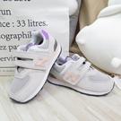 New Balance 中童鞋 NB574 魔鬼氈休閒鞋 寬楦 運動鞋 PV574HZ1 灰【iSport愛運動】