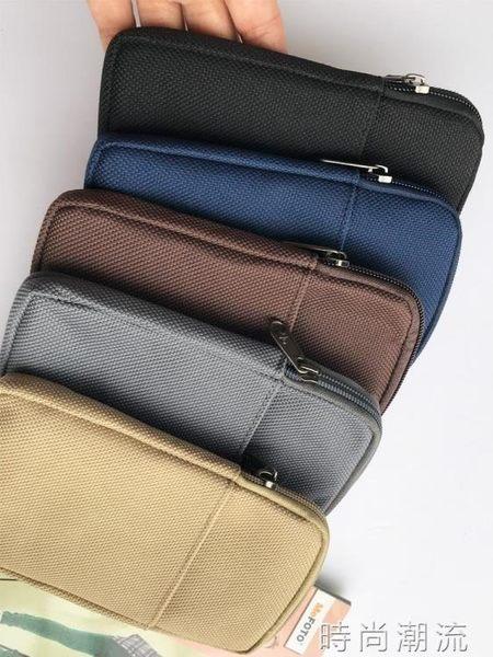 男士腰包手機包男腰包 豎款5.5寸手機腰包 穿皮帶男士超簿腰包手機小包包 時尚潮流