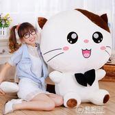 可愛貓咪毛絨玩具大號韓國玩偶萌抱枕睡覺公仔布娃娃生日禮物女孩 WD電購3C