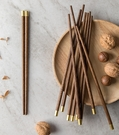 福字木筷 無臘 防霉 雞翅木 木筷 鋁合金木筷 實木筷 餐具 環保筷【RS1235】