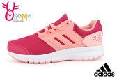 adidas運動鞋 (女) galaxy 4 k 透氣跑步鞋 中大童O9377#橘色◆OSOME奧森童鞋/小朋友