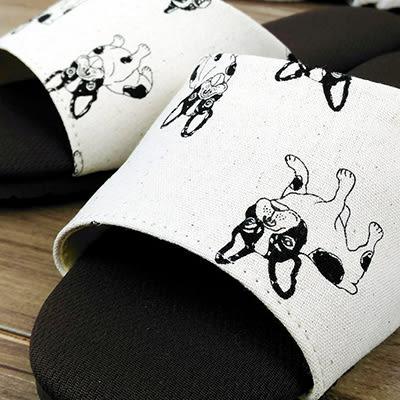 動物派對親子室內拖鞋 法鬥款-白|室內拖 室內拖鞋 拖鞋 止滑拖鞋 防滑拖鞋【mocodo 魔法豆】