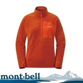 【Mont-Bell 日本 女 CP100 PULLOVER 刷毛上衣《磚橘》】1106594/保暖上衣/防寒/快乾
