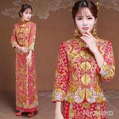 新款中式旗袍敬酒服龍鳳褂裙結婚禮服 LVV5287【KIKIKOKO】TW