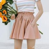 短裙 a字裙半身裙chic短裙高腰百褶裙蓬蓬裙子    蜜拉貝爾