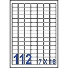 Unistar 裕德3合1電腦標籤紙 (28)US4211 112格 (100張/盒)