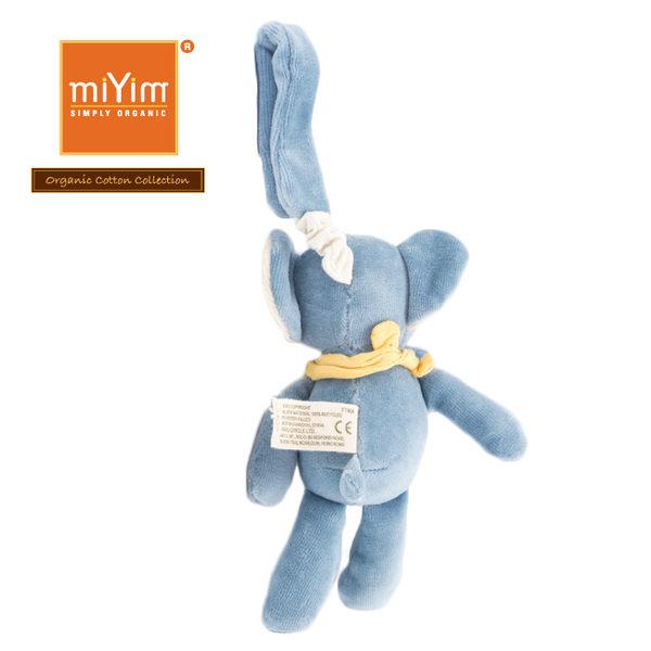 【美國miYim】有機棉 安撫玩具 手搖鈴 - 推車娃娃 -芬恩大象(藍)