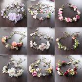 金豬迎新 韓式新娘花環藤條發帶結婚頭飾頭花伴娘發飾婚紗配飾拍照飾品