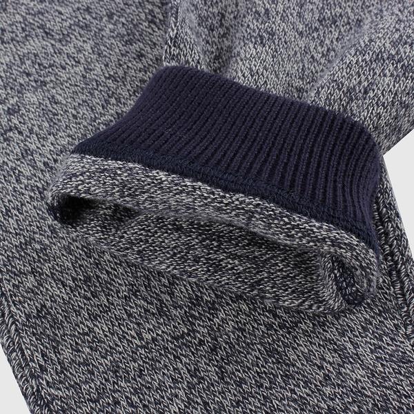 Gap嬰兒 混色簡約風格鬆緊休閒褲 592853-雜藍色