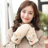 促銷款手套女士冬季保暖可愛日系軟妹卡通掛脖正韓學生加厚棉毛絨交換禮物