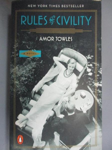 【書寶二手書T1/原文小說_HLF】Rules of Civility_Amor Towles