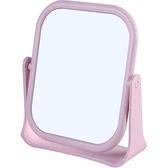 雙面旋轉梳妝鏡 方形 圓形 台式小鏡子 簡約 化妝 便攜 公主鏡 360°旋轉 化妝鏡【Q25】♚MY COLOR♚