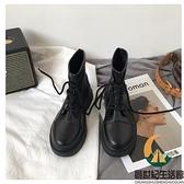 復古百搭機車短靴馬丁靴女春秋單靴【創世紀生活館】