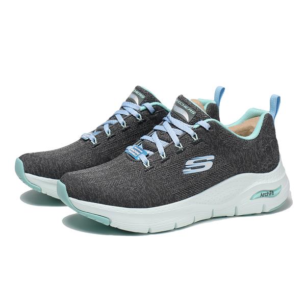 SKECHERS 慢跑鞋 醫生推薦 足弓支撐 ARCH FIT COMFY WAVE 灰水藍 女(布魯克林) 149414CCTQ