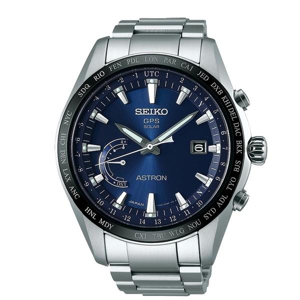 SEIKO 精工ASTRON GPS 鈦金屬衛星太陽能電波腕錶(SSE109J1)藍面